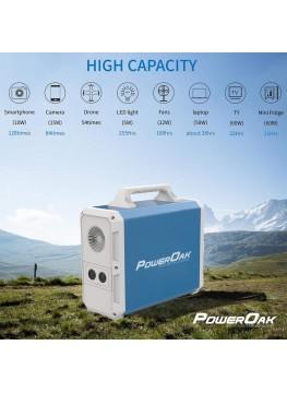 PowerOak PS8 Batterie externe 220V grande capacité solaire 1500Wh
