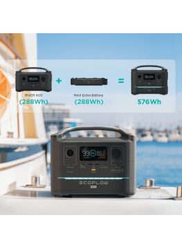Eco Flow RIVER 600W batterie externe solaire grande capacité
