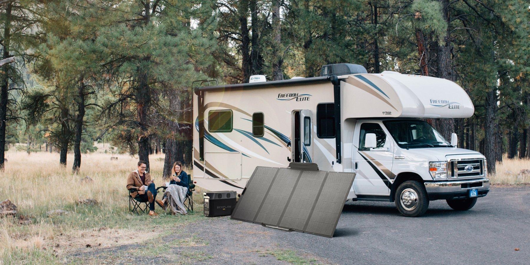 Ecoflow delta pro recharge solaire camping car van outdoor