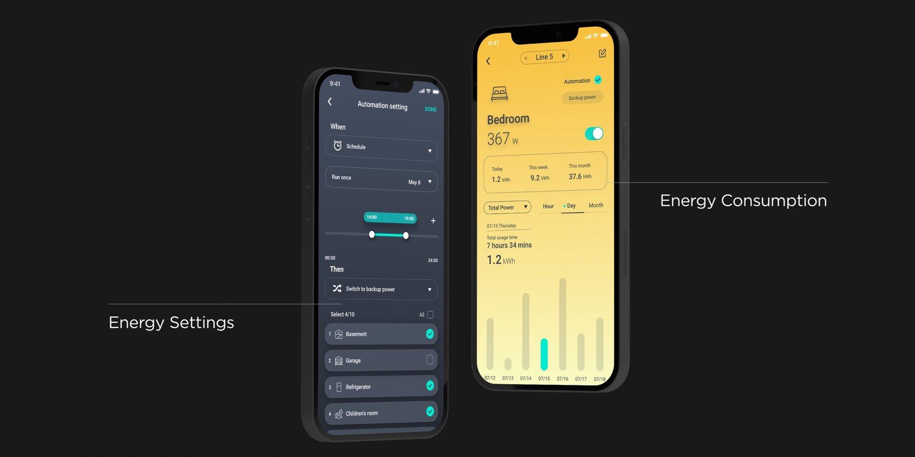 Application ecoflow panneau smart home domotique delta pro