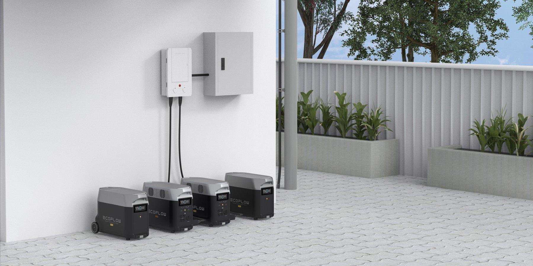 domotique panneau intelligent ecoflow et generateur delta pro 3600W